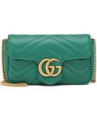 0fd27175f019 Gucci GG Marmont Matelassé Leather Super Mini Bag - Save 7% - Lyst