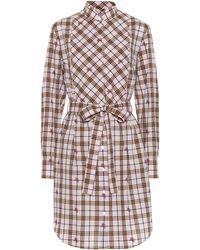 Burberry - Robe chemise en coton à carreaux - Lyst