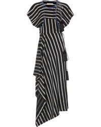 Etro Striped Asymmetric Dress - Black