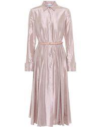 Max Mara - Fiorire Silk Satin Dress - Lyst