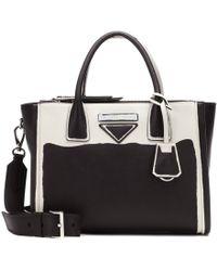 6925043168c2 Lyst - Prada Large Concept Leather Tote in Black