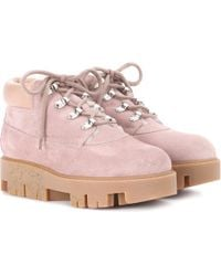 Acne Studios - Exclusive To Mytheresa.com – Tinne She Suede Ankle Boots - Lyst