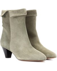 Isabel Marant - Dyna Suede Ankle Boots - Lyst