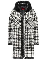 Moncler Gamme Rouge - Ludmilla Shearling-trimmed Coat - Lyst