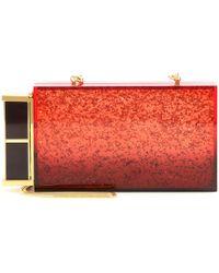 Tom Ford - Lipstick Glittered Plexiglass Box Clutch - Lyst