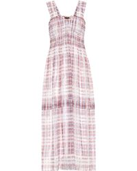 Burberry - Scribble Check Silk Dress - Lyst