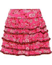 22b423b89 Minifalda de jean de línea A Calvin Klein - Lyst
