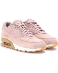 cf9be39ef7 ... pink suede womens shoes f0b6b 2fc84; spain nike air max 90 se leather  sneakers lyst 37a52 a66d3