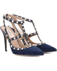 Valentino - Garavani Rockstud Suede Court Shoes - Lyst