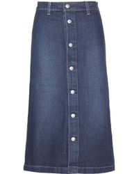 AG Jeans - Cool Denim Midi Skirt - Lyst