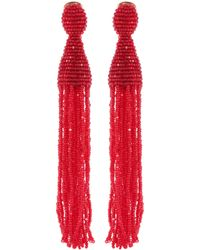 Oscar de la Renta - Tassel Clip-on Earrings - Lyst