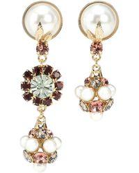 Erdem - Crystal Drop Clip-on Earrings - Lyst