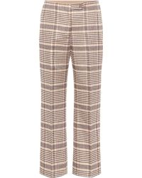 Acne Studios - Checked Wool-blend Trousers - Lyst