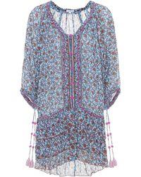 Poupette - Fleur Printed Cotton Minidress - Lyst
