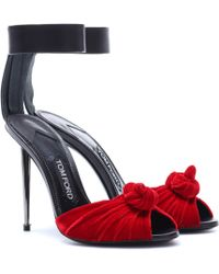 cde93cb2b4db Lyst - Tom Ford Laceup Platform Sandal in Black