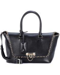 Valentino - Garavani Embellished Leather Tote - Lyst