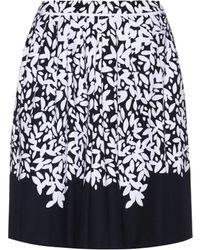 Oscar de la Renta - Printed Cotton Skirt - Lyst