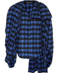 Y. Project - Wool-blend Checked Flannel Top - Lyst
