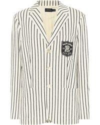 Polo Ralph Lauren - Striped Cotton Blazer - Lyst