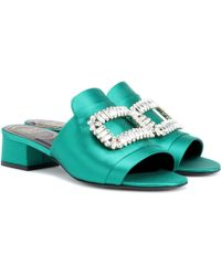 Roger VivierNew Strass embellished satin sandals lcGB0Kwbbr