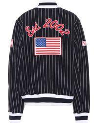 Opening Ceremony - Striped Cotton Varsity Jacket - Lyst