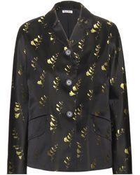 Miu Miu - Embroidered Silk Jacket - Lyst