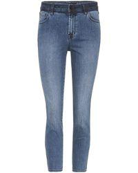 J Brand - High Rise Crop Ruby Jeans - Lyst