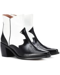 ALEXACHUNG - Leather Cowboy Boots - Lyst