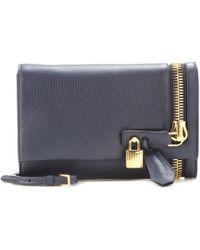 Tom Ford - Alix Embellished Leather Clutch - Lyst