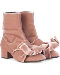 N°21 | Velvet Ankle Boots | Lyst