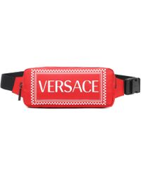 Versace - Nylon Belt Bag With Lettering - Lyst