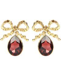 Jennifer Behr - Bow Crystal Drop Earrings - Lyst