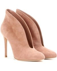 Gianvito Rossi | Vamp Suede Ankle Boots | Lyst