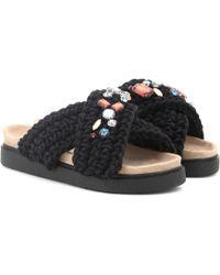 Inuikii - Sandalias con talón descubierto y decoradas al crochet - Lyst
