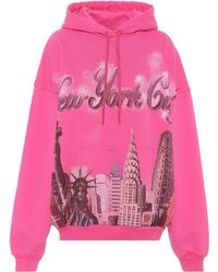 Balenciaga New York Classic Hooded Heavy Sweatshirt