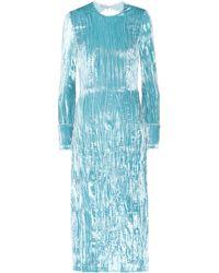 Miu Miu - Backless Crushed-velvet Dress - Lyst
