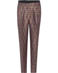 Etro - Jacquard Cropped Trousers - Lyst
