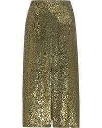 Nina Ricci - Sequinned Silk Skirt - Lyst