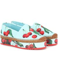 Dolce & Gabbana - Exclusive To Mytheresa – Cherry Printed Espadrilles - Lyst