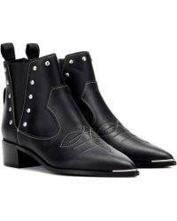 Acne Studios - Jexy Studded Leather Ankle Boots - Lyst