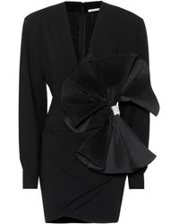 Alessandra Rich - Embellished Wool-blend Minidress - Lyst