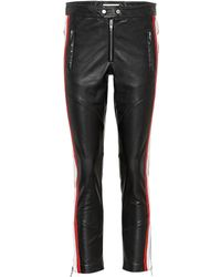 Étoile Isabel Marant - Aya Cropped Leather Trousers - Lyst