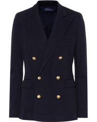 Polo Ralph Lauren - Knit Double-breasted Blazer - Lyst