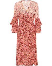 Poupette - Paloma Wrap Midi Dress - Lyst