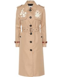 COACH - Cotton-blend Trench Coat - Lyst