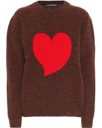 ALEXACHUNG - Intarsia Wool-blend Sweater - Lyst