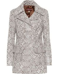 8bb99e008 Gucci. Flora Snake Bomber Jacket. $1,426. Harrods. ALEXACHUNG Snake-effect  Faux Leather Jacket