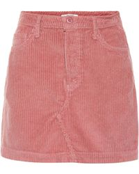 GRLFRND - Zamira Corduroy Miniskirt - Lyst
