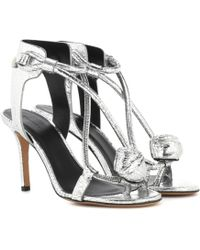 Isabel Marant - Ablee Metallic Leather Sandals - Lyst