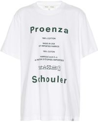 Proenza Schouler - Pswl Care Label Cotton T-shirt - Lyst